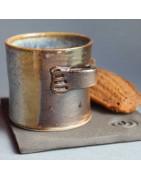 Tasses à café uniques en céramique artisanale