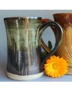 Chopes pour la bière, céramique artisanale et pièces uniques