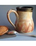 Mugs avec décor unique, plume, feuille, nature